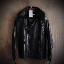 Pu Leather Jacket Men Faux Fur Coat Winter Leather Jackets For Mens Leather Bomber Motorcycle Jacket Cheap Leather Coats Luxury(China (Mainland))