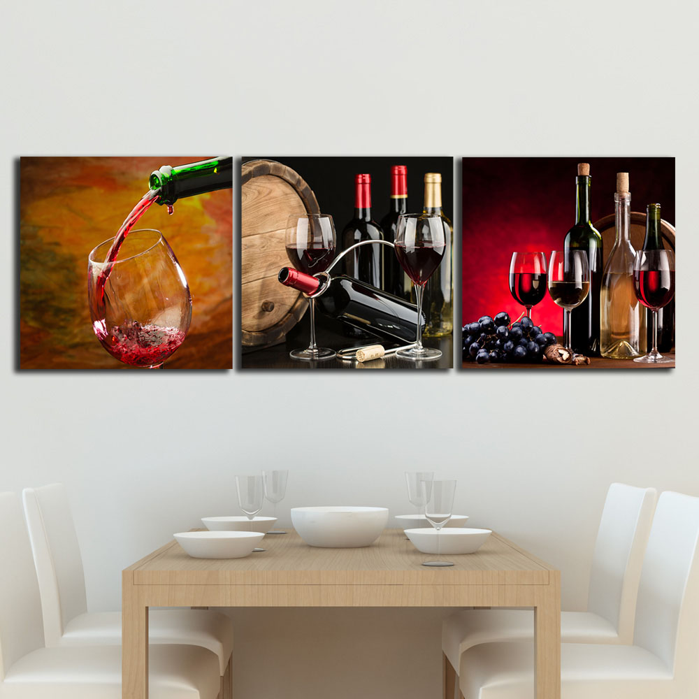 3 panels paintings for the imitation wine barrel designed votive 3 panels paintings for the