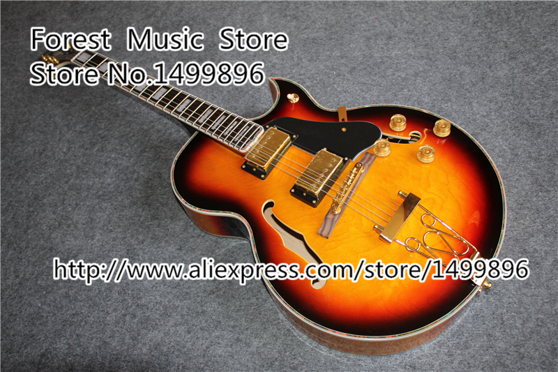 New Arrival Vintage Sunburst Finish ES Guitars Electric China OEM Gloden Hardware Guitar Body Custom Available<br><br>Aliexpress