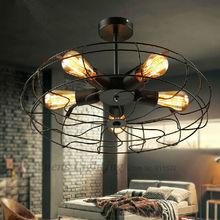 Loft RH American Rural Industrial Style Creative Designers Electric Fan Retro Ceiling Light XDC-220 Free Shipping(China (Mainland))