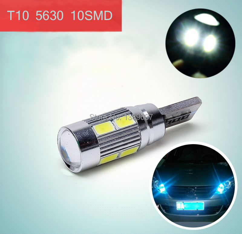 1PC/lot 2014 NEWS !! Free shipping Car Auto LED T10 194 W5W Canbus 8 smd 5630 cree LED Light Bulb No error led light parking(China (Mainland))