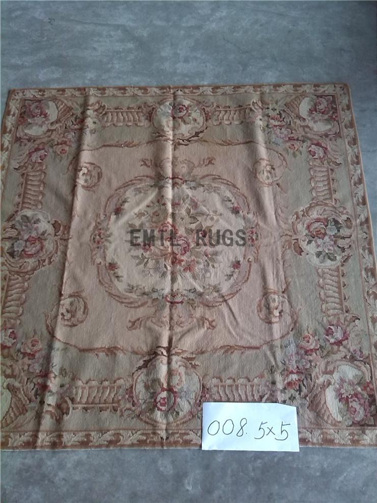 Carpet 152CMX152CM 5' X 5' the palace aubusson rugs pattern rose gc28nee14(China (Mainland))