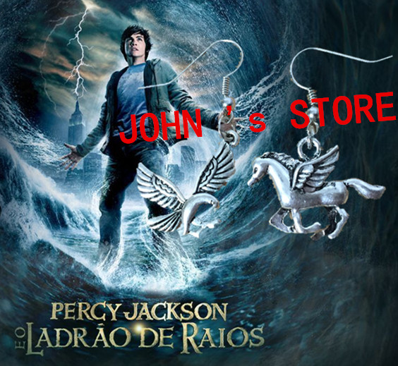 Freeshipping 20pc a lot Percy Jackson camp half blood with fly horse Camp Jupiter SPQR eagle Earring JRDE09<br><br>Aliexpress
