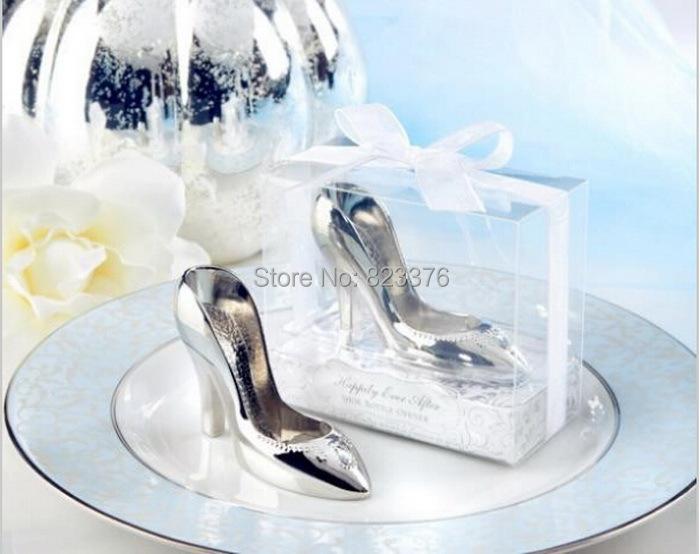 DHL Freeshipping 60pcs Cinderella shoe bottle opener wedding bridal shower favor party gifts(China (Mainland))