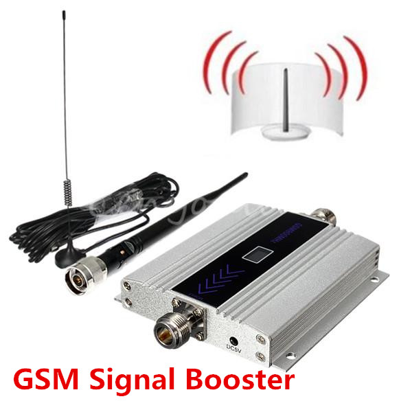 HOT High Gain Mini GSM 900Mhz Mobile Cell Phone Signal Amplifier Booster RF Repeater Kit + 10m cable +Sucker Antenna Top Quality(China (Mainland))