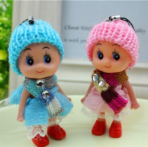 Mini princess doll for iphone mobile phone accessory Creative bag pendant key ring keychain gift trinket chatelaine hello kitty(China (Mainland))
