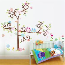 hot selling owl wall art for kids room wall decals zooyoo1011 diy decorative sticker home decorations animal wall stickers(China (Mainland))