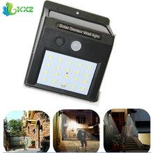 LED Solar Power PIR Motion Sensor Wall Light Outdoor Waterproof Energy Saving Street Yard Path Home Garden Security Lamp 20 LEDs