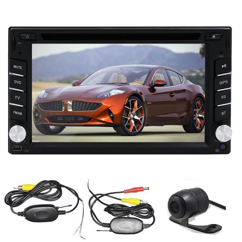 Wireless Back Camera 6.2 inch 2 DIN In-Dash Car DVD Player GPS Navigation Bluetooth mp3/mp4 FM/AMTouchScreen Car GPS Player(China (Mainland))