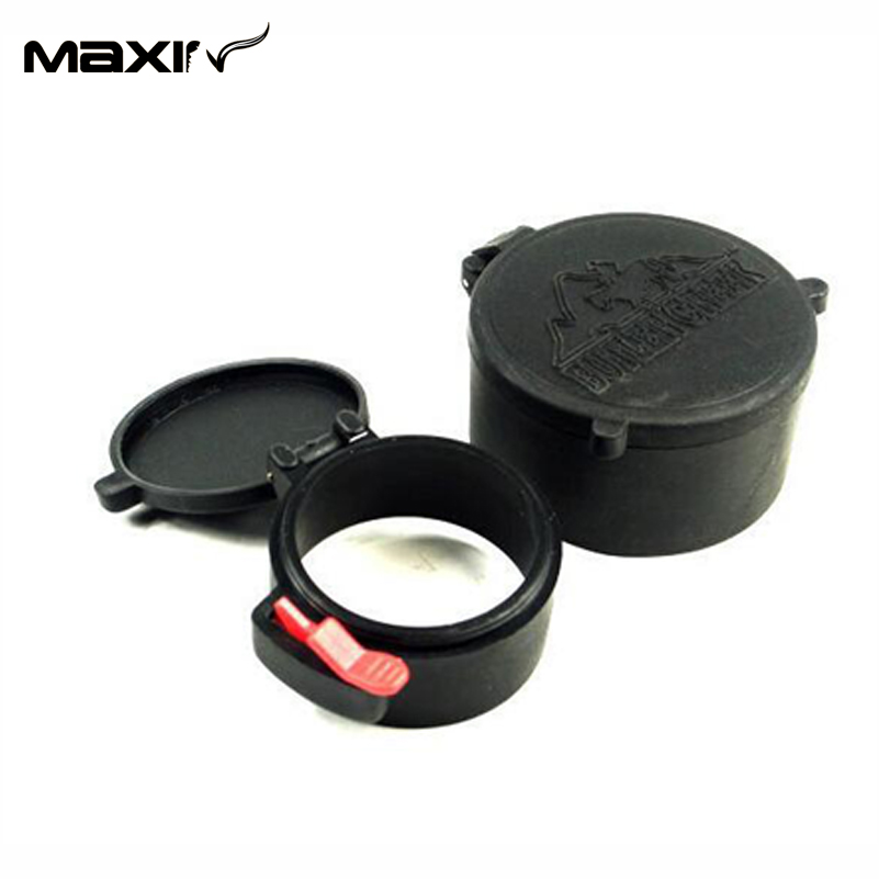 2015 New Arrival 48mm&42mm Anti-dust Gun Scope Covers Lens Cover Flip Cap for Scope Rifle Hunting Thumb FLIP OPEN LENS COVER A(China (Mainland))