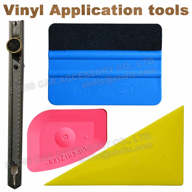 Useful 4 in 1 Car Window Film Tools Squeegee Scraper Set Kit Car Home Tint<br><br>Aliexpress