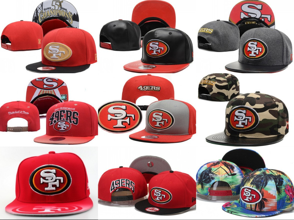 Free fast shipping Best Quality nfl cap all team San Francisco 49ers Snapbacks 8 colors 49ers HATS(China (Mainland))
