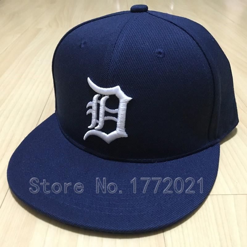 Men's Detroit Tigers snapback caps in dark blue classic basic embroidered logo adjustable baseball hats(China (Mainland))