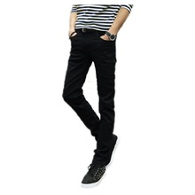 2016 male black skinny jeans shorts  men's clothing trend slim small trousers male casual trousers Large size 27-36(China (Mainland))