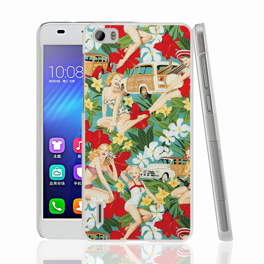 16521 Aloha Girls fabric cell phone Cover Case for huawei honor 3C 4A 4X 4C 5X 6 7(China (Mainland))