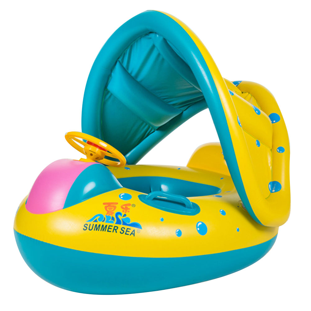 Baby Child Float Seat Boat Swim Ring Water Swimming Pool Portable Yellow(China (Mainland))