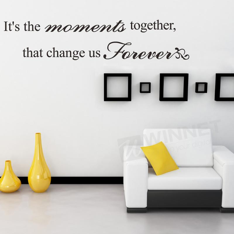 VIVREAL PVC Wall Sticker Decal Room Art Home Decor DIY Moments Together Black(China (Mainland))