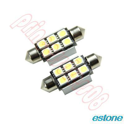 1PCS 39mm 6 SMD 5050 Pure White Dome Festoon LED Reading Light 12V(China (Mainland))