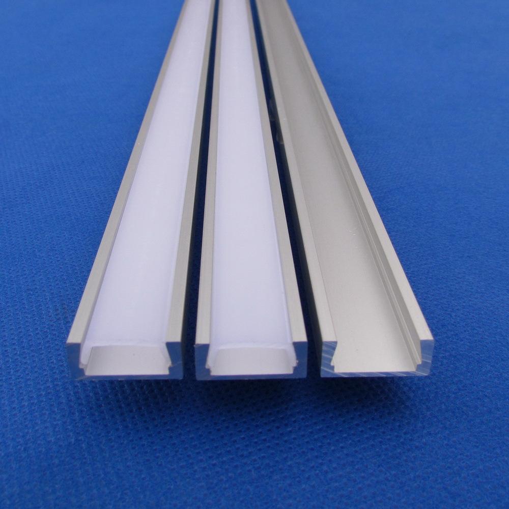 10pc(20m)/pack;2m per piece aluminum profile led strip for led profile 5730 profileQC1607-2M(China (Mainland))