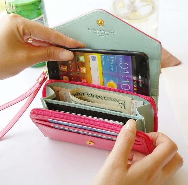Mini Handbag Wallet Leather Cover for iphone 4 4S/ 5 5S /6 4.7 / Plus 5.5 for Samsung Galaxy S3 S4 S5 S6 / edge Accessories Case(China (Mainland))