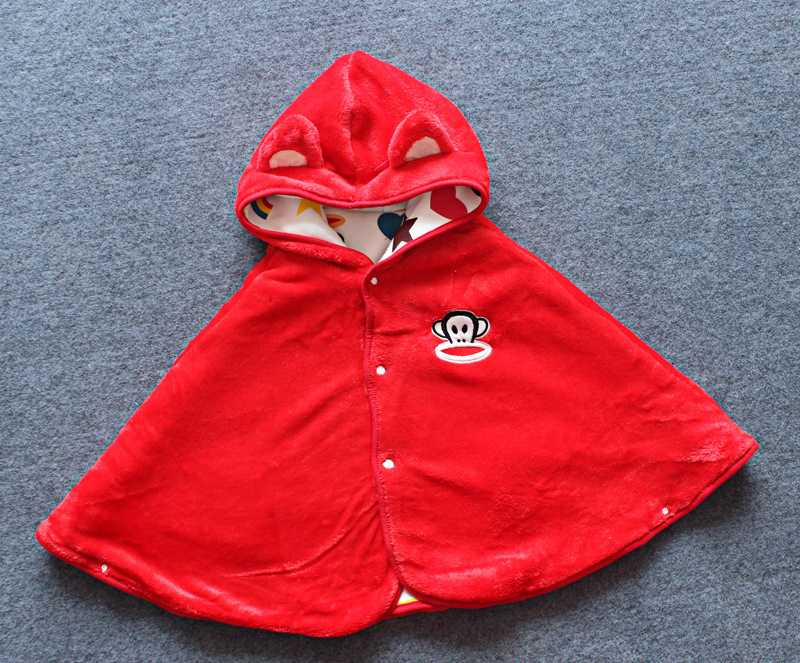2015 Free Shipping Baby Coats Two-sided Outerwear Cloak Children Cape Poncho 3 Colors Drop Shipping(China (Mainland))