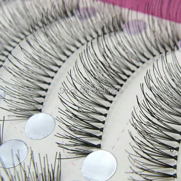 1Box/10Pairs Free shipping New 10 Pair handmade False Eyelashes Quality lash naked Eyelash japan Eye Lashes Transparent a66jHH(China (Mainland))