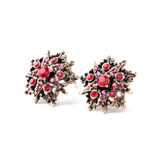 Star Jewelry Wholesale For Women Newest Design fashion Earrings Vintage Retro Finishing Five-pointed Star Clip Earrings Hot(China (Mainland))