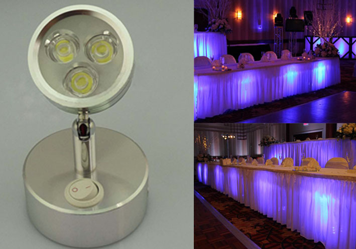 Cordless Led Undertable Lamp For Wedding Events Under