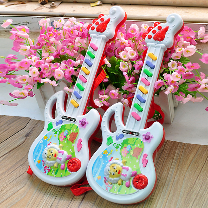 Cute Baby Educational Toys Musical Instruments Toy Small Portable Guitar Little Lamb Pattern Music Toy Free Shipping<br><br>Aliexpress