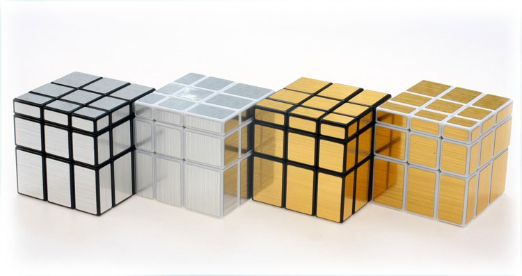 Mirror Magic Cube 3x3x3 4 Color Pocket Magico Cubo Puzzle Blocks Cube Challenge Educational Kids Gifts Toys 1295(China (Mainland))