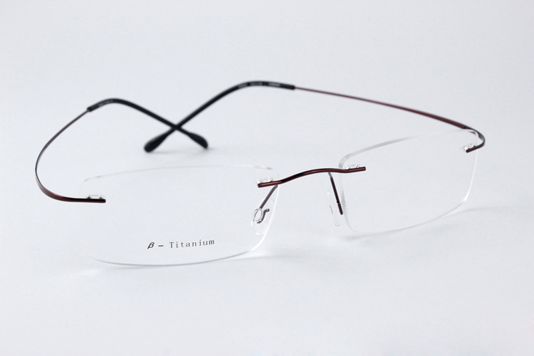 Rimless Glasses Young : Rimless Reading Glasses Women Men Memory Titanium Oculos ...