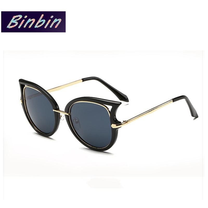 Ladies Metal Frame Glasses : 2015 Cat Eye Sunglasses Semi Rimless Women Luxury Brand ...