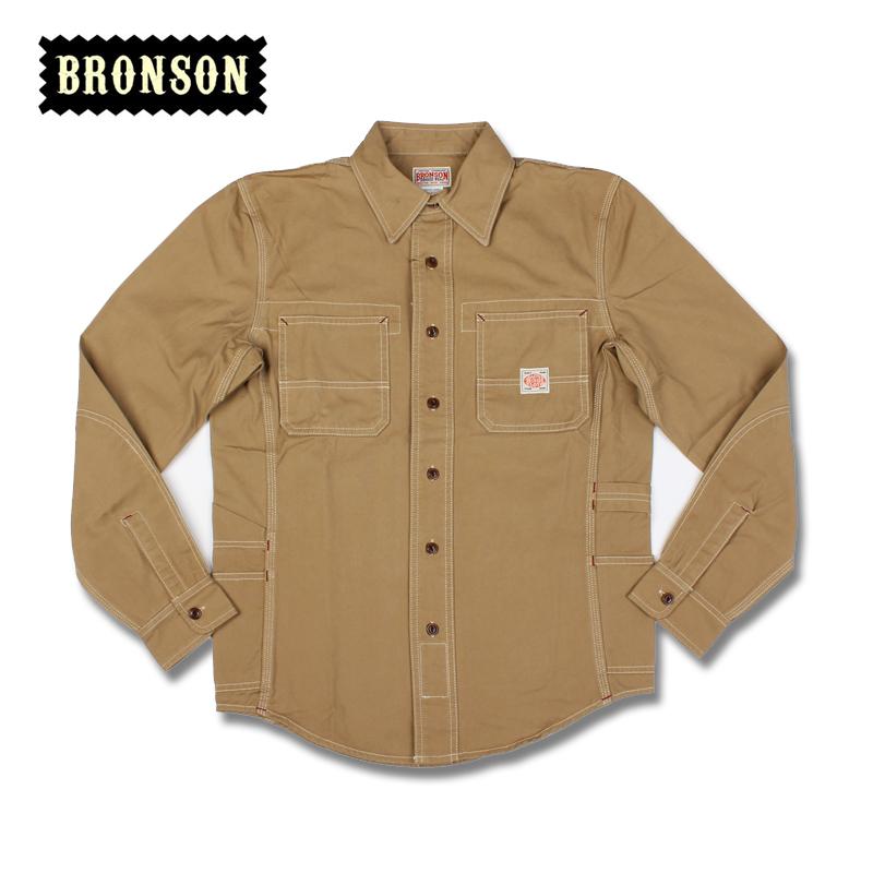 2016 bronson 12oz heavy cotton canvas stripe long-sleeve shirt casual shirt slim fit free shipping(China (Mainland))