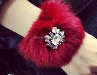 Корейский стиль моды драгоценный камень зимние украшения cony волос Шарм Браслеты Браслеты