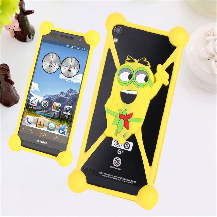 Animal Soft Beautiful 3D Cases For Prestigio grace q5 psp5506 duo s5 x3 x7 x5 Mobile Phone Rubber Silicone Lovely Bag Cover Case(China (Mainland))