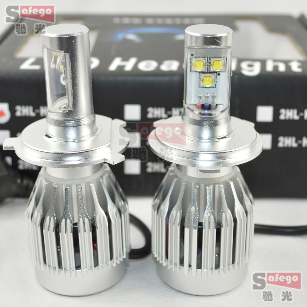 1set 30w cree H4 led headlight lamp Hi/Lo car auto H13 led headlight  HB1 9004 HB5 9007 hi/lo Intergrated led headlight bulb