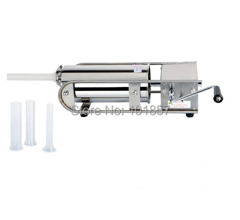 Shentop 202SS stainless steel sausage stuffer machine manaul sausage filler 7L horizontal sausage filling machine ST-MHTG7L<br><br>Aliexpress