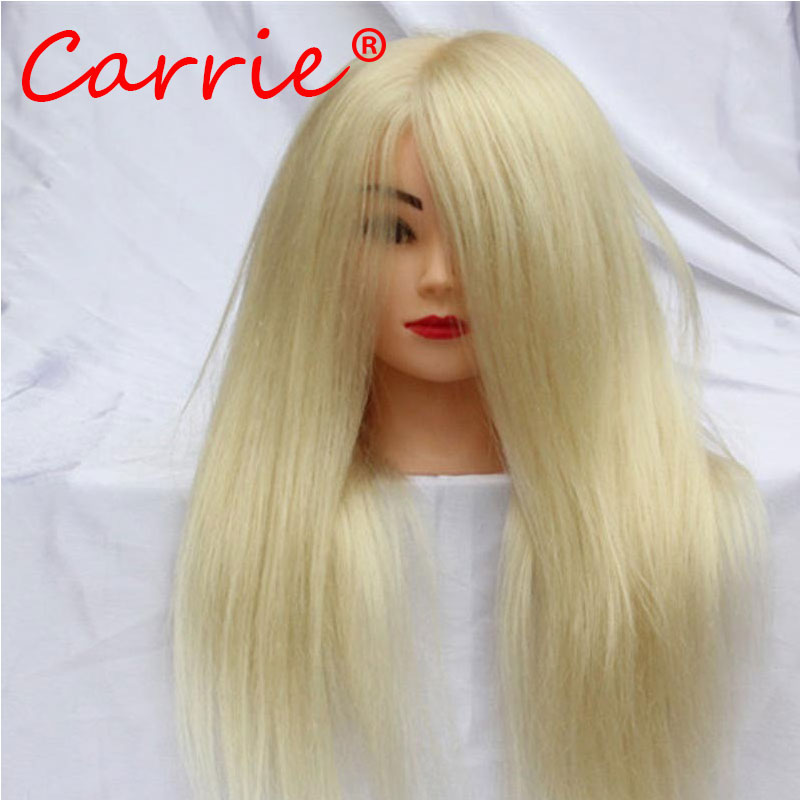 Wholesale 100 Human font b Hair b font Mannequin Head 18 font b Blonde b font