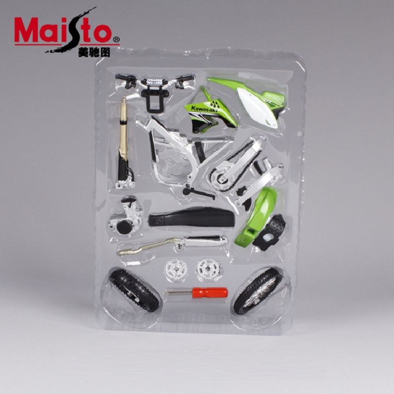 KAWASAKI KX 450F Maisto 1:12 motorcycle model kids toy Motocross collection green Mountain biking gift for children