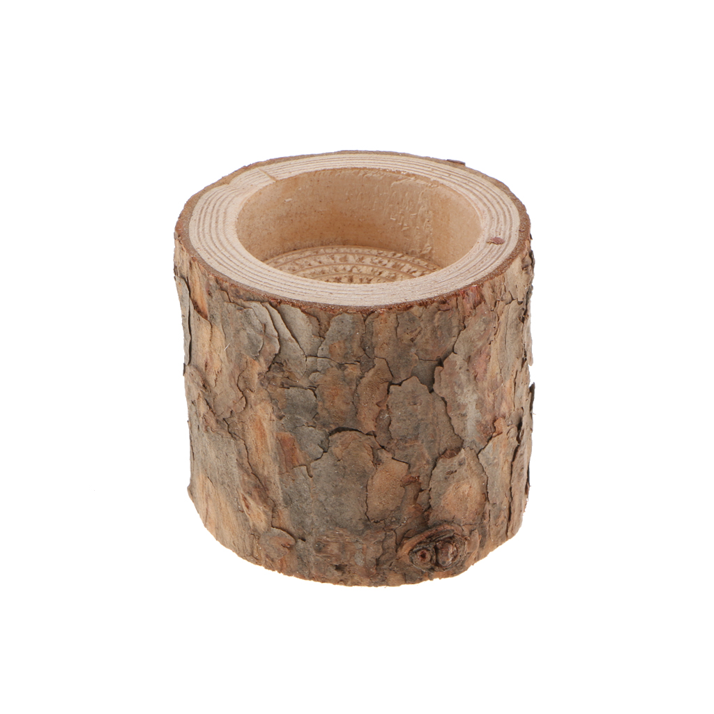 LOT 10PCS Natural Tree Stump Wooden Candle Holder Light for Romantic Candlelight Dinner Wedding Party Decoration