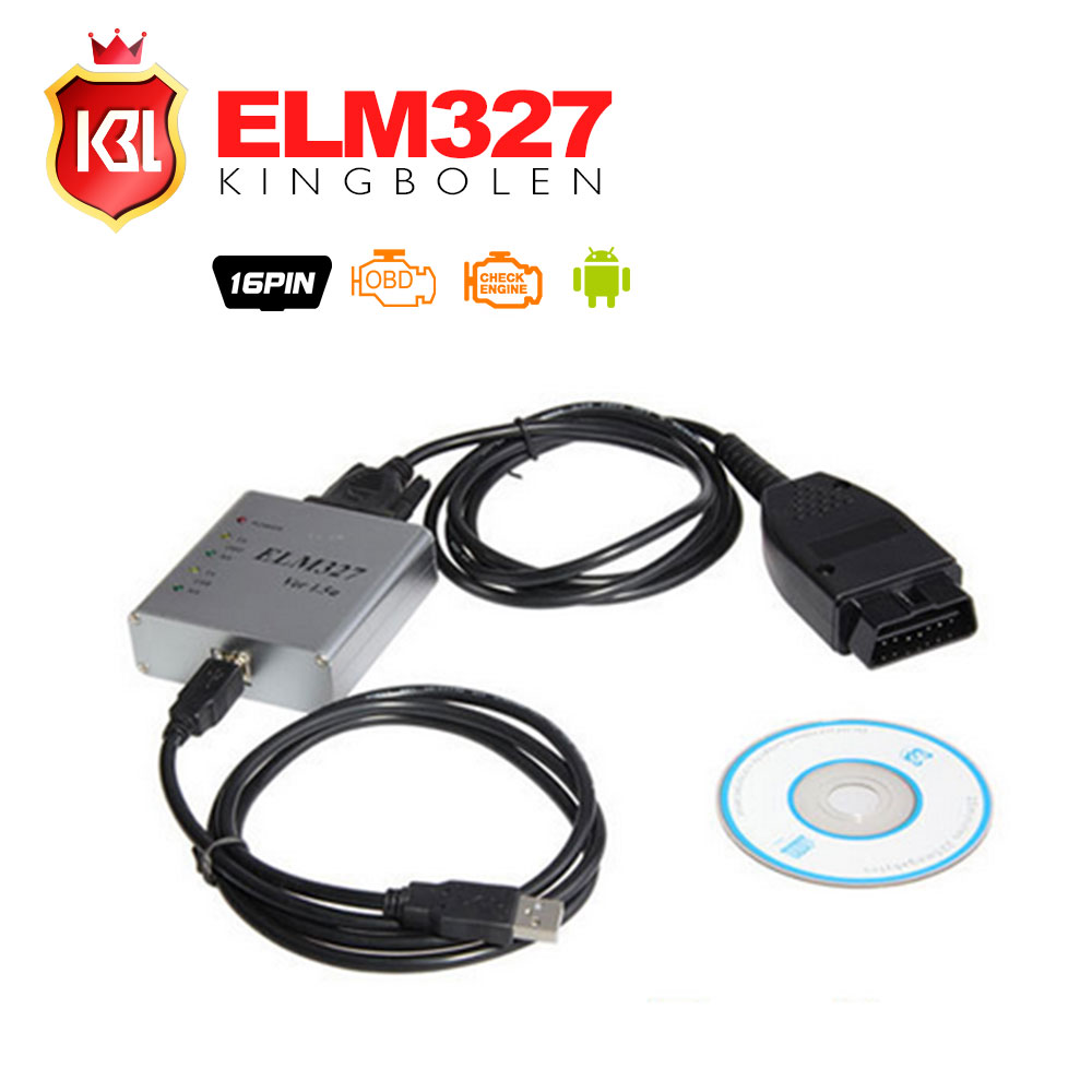 2016 Free Shipping ELM327 USB Metal V1.5a OBD2 Auto Diagnostic Tool ELM 327 CAN-BUS Interface Erase Trouble Code Scanner(China (Mainland))