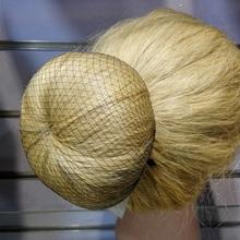 Оптовая продажа 100 шт. сетку для волос 5 мм нейлон балет булочка сетки для волос невидимым одноразовые сетка для волос 10 inch пять цветов смешивания(China (Mainland))