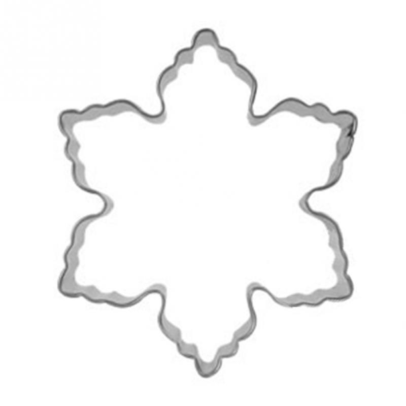 fondant mold stainless steel snowflake shape christmas cookie cutter bakery and pastry tools(China (Mainland))