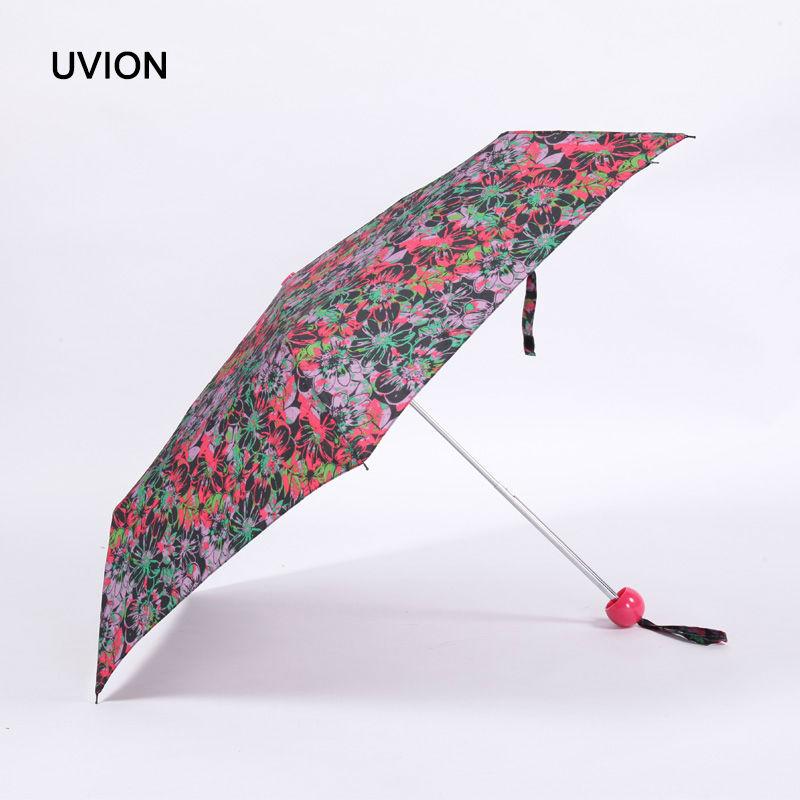 China Suppliers Flower Umbrella Women Sunny And Rainy Pongee Umbrella Brand Three Folding Mini Pencil Parapluie sh0018(China (Mainland))