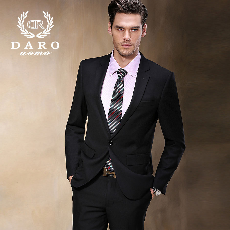 Brand DAROuomo Men's Business Formal Wear High quality Plus Size Men Business Suit Terno Masculino DR8158-1#(China (Mainland))