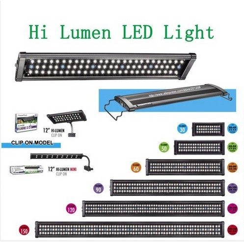 LED-600 lampLed Aquarium Lights for tank 90cm-120cm.Hi Lumen bulb Aquarium/Fish tank LED light /Freshwater and Plant version(China (Mainland))