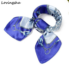 Ladies Imitated Silk Scarf Wraps Europe Style Design Satin Big Square Scarf Printed New Brand Women Silk Scarf 60*60cm SC004(China (Mainland))