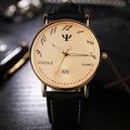 High Quality YAZOLE Brand Gold Silver Leather Waterproof Backlight Quartz Dress Wristwatch Watch Clock for Men