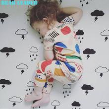 Bear Leader Girls Boys Clothing Sets 2016 New Summer Girls Clothes coloured drawing or pattern Short Sleeve T-Shirt+Pants 2pcs(China (Mainland))