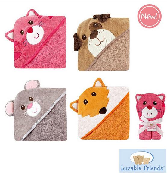 Гаджет  High Quality Baby Towels Hooded Luvable Friends 100%  Cotton Baby Bath Towel Lovely Cartoon Design Toalha De Banho Infantil None Детские товары